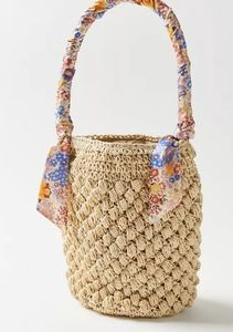 NWT UO Miki Straw Bucket Handbag